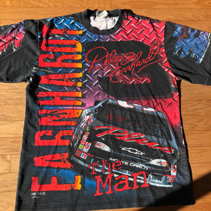 "Dale Earnhart Vintage ""The Man"" ""Born to Run"" Chase Authentics/ Nutmeg Mills Front & Back All Over Print Shirt!"