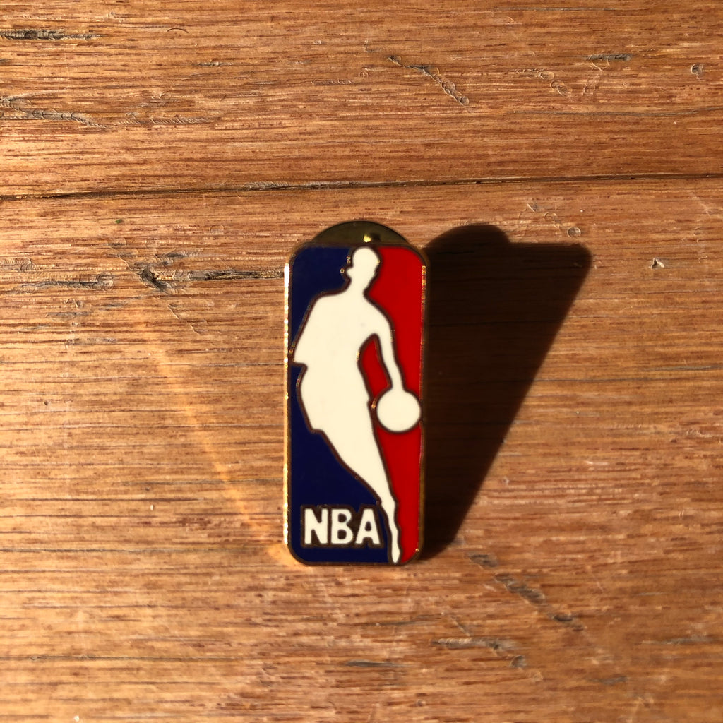 National Basketball Logo Vintage Lapel Pin