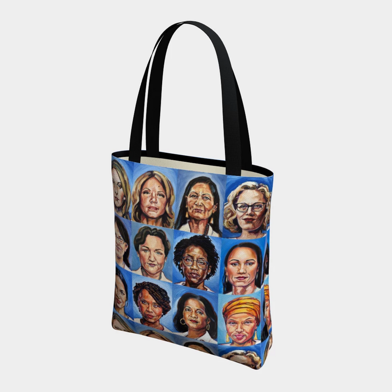 Sheroes Women of Congress All Over Tote Bag