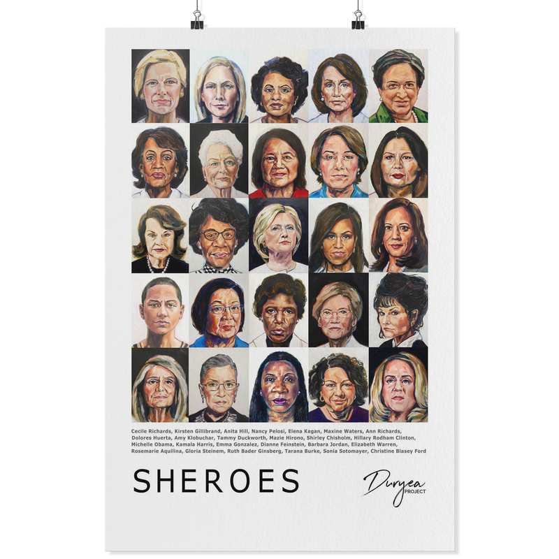Sheroes Classic Poster