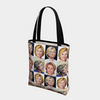 Hillary Clinton Mini Grid All Over Tote Bag