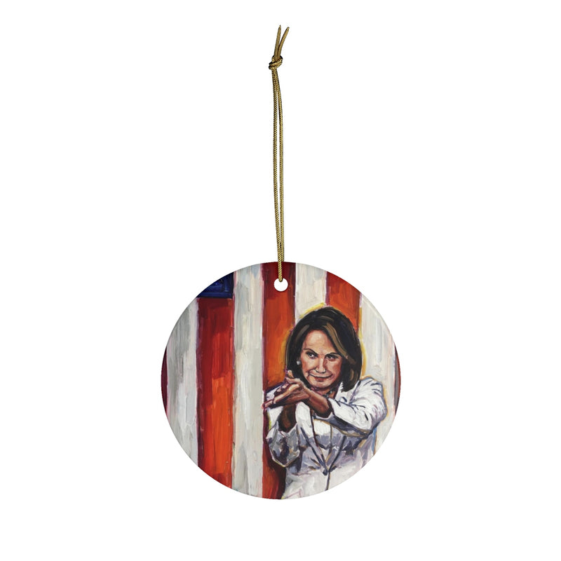 Speaker Pelosi Ceramic Ornaments