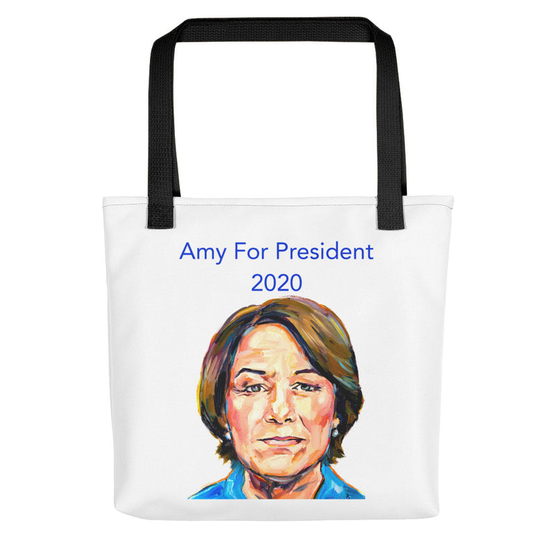This Amy Klobuchar for President 2020 tote bag makes a spacious and trendy tote bag to help you carry around everything that matters.