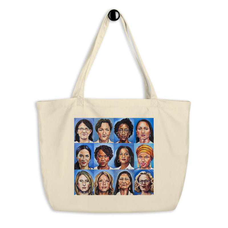 Sheroes Women of Congress Organic Cotton Oversize Tote Bag