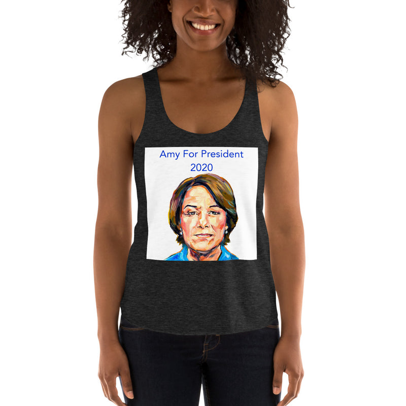 Women's Racerback Amy for President Tank Top