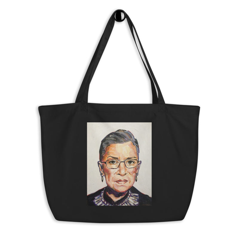 Ruth Bader Ginsberg Cotton Oversize Tote Bag