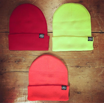 Hat • Classic Toque Hat PEC Oval Prince Edward County • Choice 7 colours Black Navy Red Orange Yellow Charcoal Light Grey