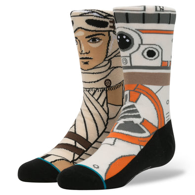 STAR WARS REY BB8 FORCE AWAKENS KIDS SOCKS BY STANCE