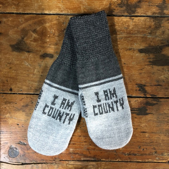 I AM COUNTY PEC Mittens • County Brand Winter Wear • Prince Edward County