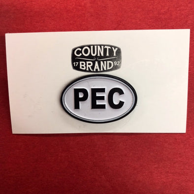 Enamel LAPEL PIN • PEC Prince Edward County Euro Oval