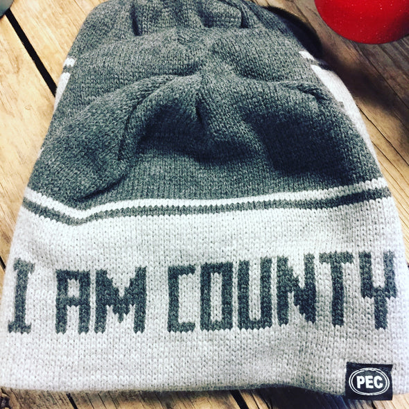 I AM COUNTY PEC Toque • County Brand Winter Beanie • Prince Edward County