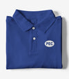PEC Oval Embroidered ROYAL BLUE Men's Cotton Piqué Polo Short Sleeve Shirt • Prince Edward County • Golf Tennis