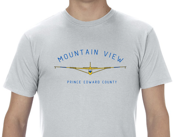 MOUNTAIN VIEW GLIDER • Prince Edward County PEC • Men's / Unisex Silver Modern Crew T-shirt