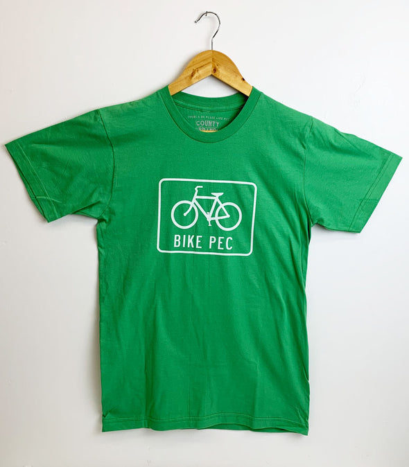 BIKE PEC Men's / Unisex GRASS GREEN Modern Crew T-shirt • Prince Edward County