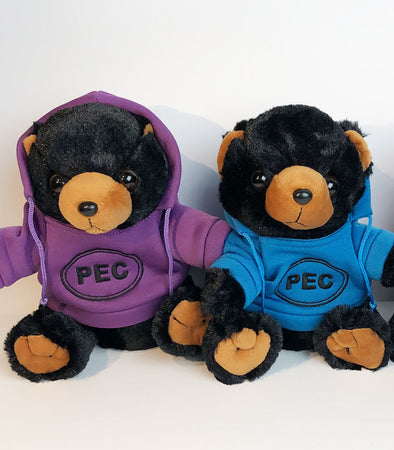 Wild Republic STUFFED ANIMALS w/ PEC Oval HOODIE FOX TEDDY BLACK BEAR Prince Edward County