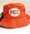 PEC Oval Adult Unisex Bucket Twill Hat • One Size • RED YELLOW ORANGE KHAKI NAVY • Prince Edward County