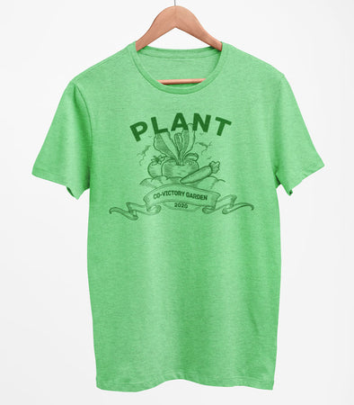 PRE-SALE! PLANT CO-VICTORY GARDEN 2020 Stay at HOME Unisex Men's GREEN HEATHER T-Shirt Covid-19