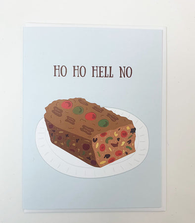 HO HO HELL NO FRUITCAKE HOLIDAY CHRISTMAS CARD  • The Beautiful Project
