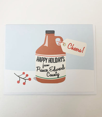 HAPPY HOLIDAYS FROM PRINCE EDWARD COUNTY GROWLER CHRISTMAS CARD • The Beautiful Project