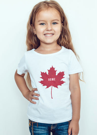 PEC Home maple leaf canada kids t-shirt prince edward county