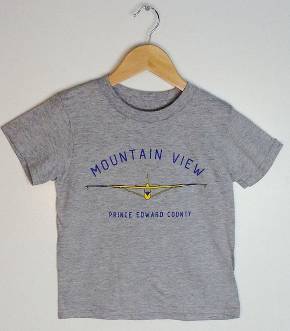 MOUNTAIN VIEW GLIDER •  Prince Edward County PEC • Kid's & Youth Athletic Heather Grey Modern Crew T-Shirt