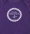 COUNTY GROWN SPROUT Baby Onesie • Prince Edward County PEC • Charcoal Heather • Vintage Blue • Vintage Purple