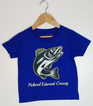 PICKEREL EDWARD COUNTY • Kid's & Youth Royal Blue Modern Crew T-Shirt • PEC Prince Edward County