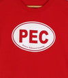 PEC OVAL • Prince Edward County • Kid's and Youth Red Modern Crew T-Shirt