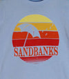 SANDBANKS RETRO CIRCLE • Prince Edward County PEC • Kids & Youth Light Blue Modern Crew T-Shirt