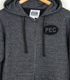 PEC oval prince edward county full zip hooded sweatshirt