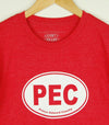 PEC OVAL • Prince Edward County • Men's / Unisex Red Heather Modern Crew T-shirt
