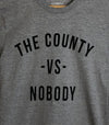 COUNTY VS NOBODY • Prince Edward County PEC • Men's / Unisex Athletic Grey Modern Crew T-Shirt