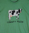 COWNTY FRESH • Prince Edward County PEC • Men's/ Unisex Green Heather Modern Modern Crew T-Shirt