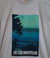 LAKE ON THE MOUNTAIN POSTER SHIRT • Prince Edward County PEC • Men's / Unisex Silver Modern Crew T-Shirt