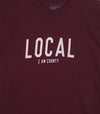 LOCAL I AM COUNTY PEC • Prince Edward County • Men's / Unisex Burgundy Modern Crew T-shirt