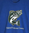 PICKEREL EDWARD COUNTY Walleye • Prince Edward County PEC • Men's / Unisex Royal Blue Heather Modern Crew T-Shirt
