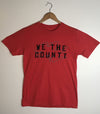 WE THE COUNTY •  Prince Edward County PEC • Men's / Unisex Red Heather Modern Crew T-shirt