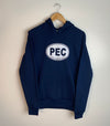 PEC Oval Hoodie on NAVY BLUE Unisex Prince Edward County