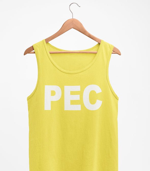 PEC Neon YELLOW Summer Basic UNISEX Men's TANK Top T-Shirt • Prince Edward County