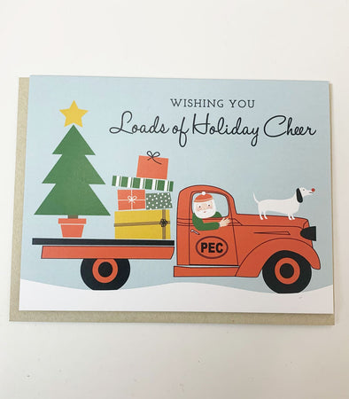 PEC Oval SANTA TRUCK HOLIDAY CHRISTMAS CARD • PRINCE EDWARD COUNTY • The Beautiful Project