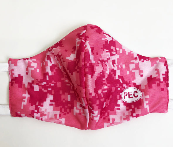 MASKS • PINK DIGITAL CAMO PEC Oval MADE IN CANADA • PRINCE EDWARD CANADA