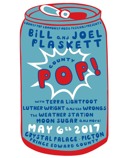 JOEL PLASKETT COUNTY POP 2017 POSTER Limited Edition Screen-printed Poster