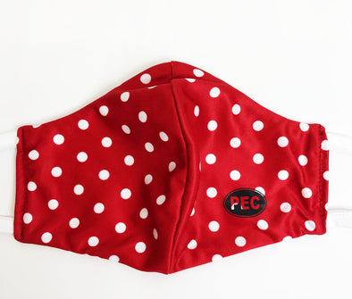 MASKS • RED POLKA DOT PEC Oval MADE IN CANADA • PRINCE EDWARD CANADA