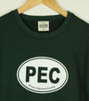 PEC OVAL Unisex Crew SWEATSHIRT SWEATER in FOREST GREEN Prince Edward County