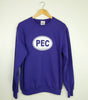 Unisex • Fleece Crew Sweatshirt PEC Prince Edward County Euro Car Oval • on Purple