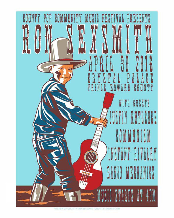 Ron Sexsmith Gig Poster Screen Print Limited Edition
