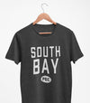 PRE-SALE!  SOUTH BAY PEC Oval Men's Unisex CHARCOAL Heather Modern Crew T-Shirt • Prince Edward County