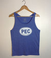 PEC Oval • Tri-Blend Blue • Modern Unisex Tank Top • Prince Edward County