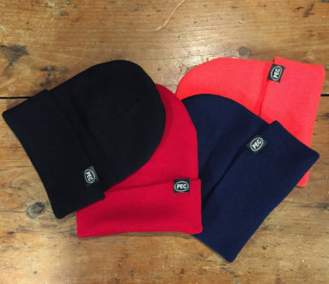 Hat • Classic Toque Hat PEC Oval Prince Edward County • Choice 4 colours Black Navy Red Orange