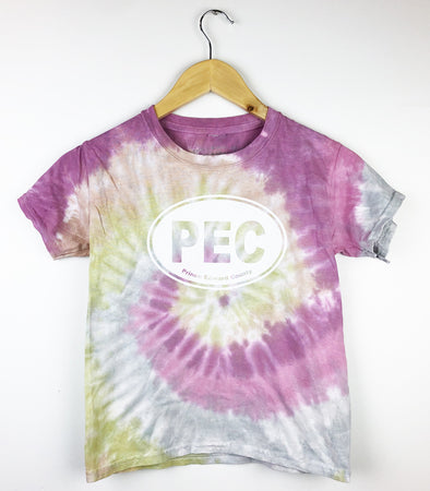 PEC OVAL KIDS YOUTH DESERT ROSE TIE DYE T-shirt • Prince Edward County